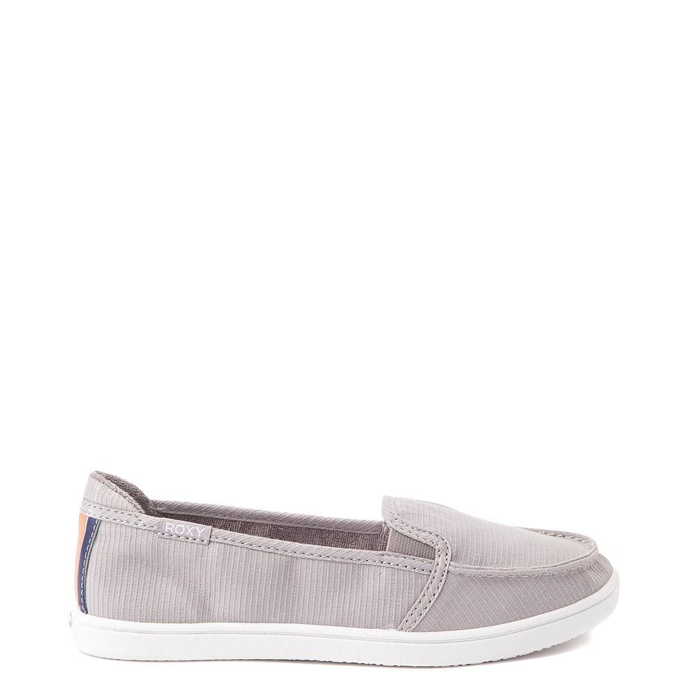 Womens Roxy Minnow Slip On Casual Shoe - Gray