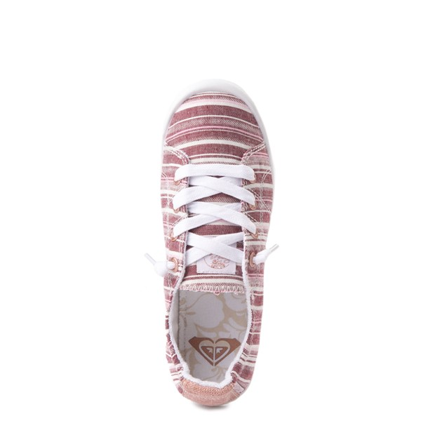 alternate view Womens Roxy Bayshore Casual Shoe - Brown StripesALT4B