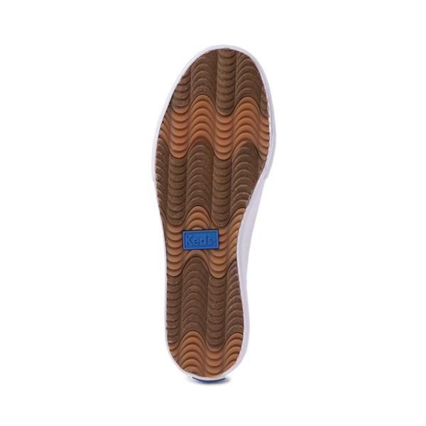 alternate view Womens Keds Double Decker Slip On Casual Shoe - WhiteALT3