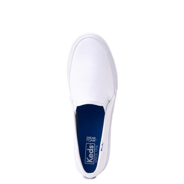 alternate view Womens Keds Double Decker Slip On Casual Shoe - WhiteALT4B