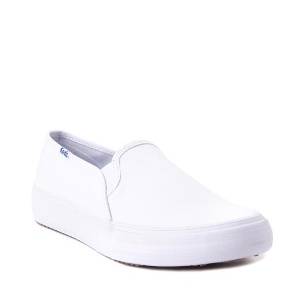 alternate view Womens Keds Double Decker Slip On Casual Shoe - WhiteALT5