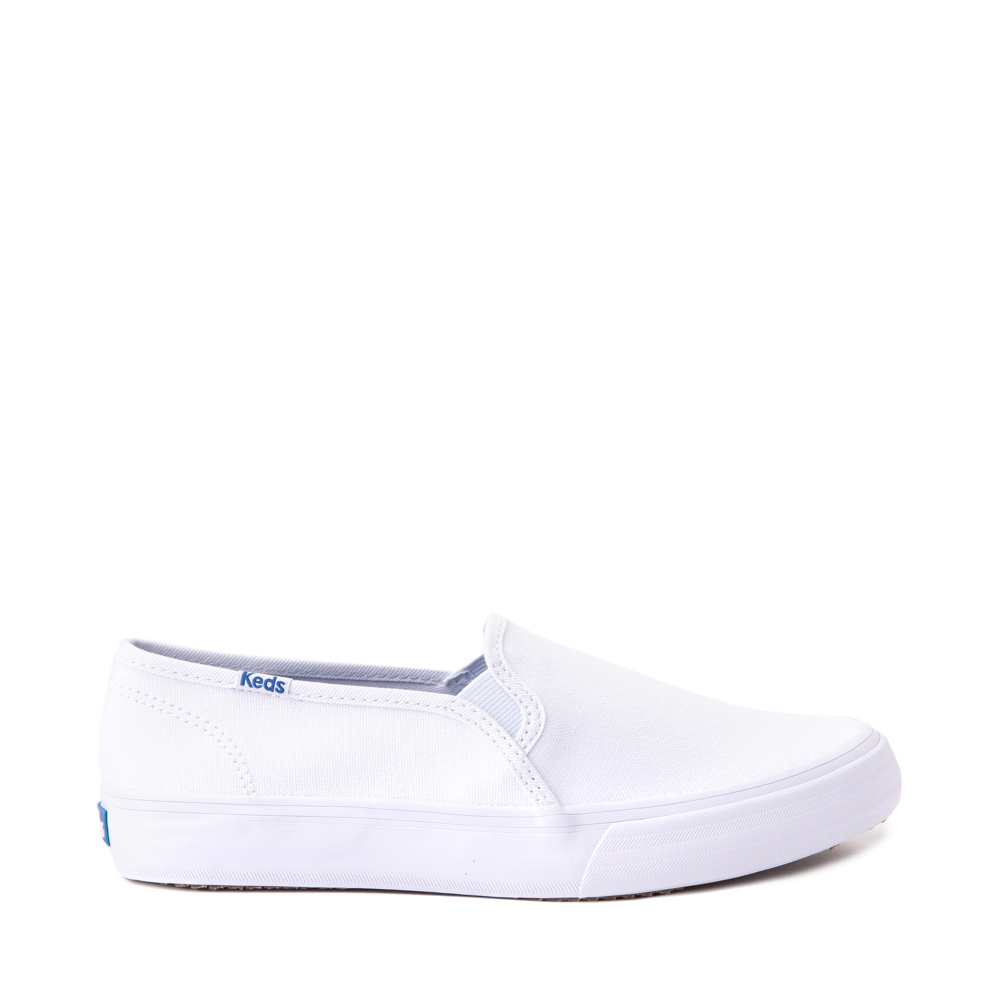 Womens Keds Double Decker Slip On Casual Shoe - White