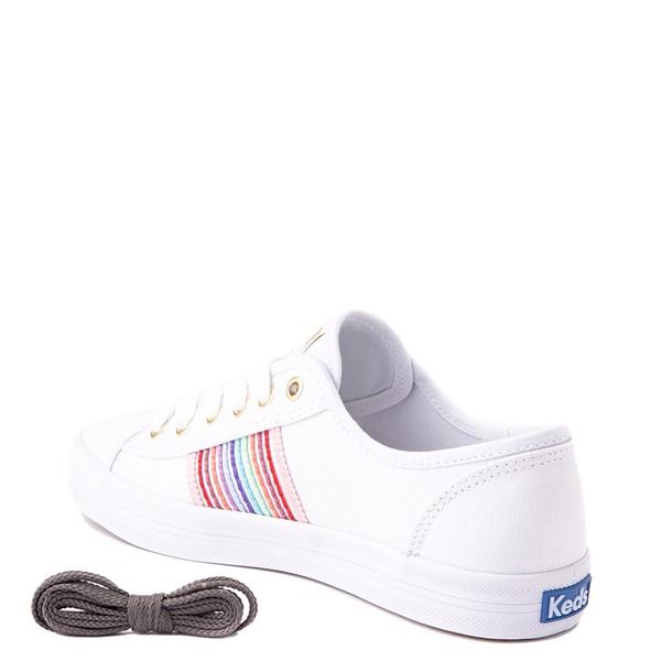 alternate view Womens Keds Kickstart Casual Shoe - White / RainbowALT1