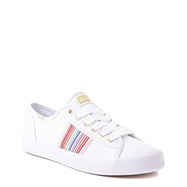 alternate view Womens Keds Kickstart Casual Shoe - White / RainbowALT5