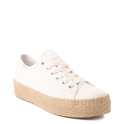 Alternate view of Womens Keds Triple Kick Jute Platform Casual Shoe - White