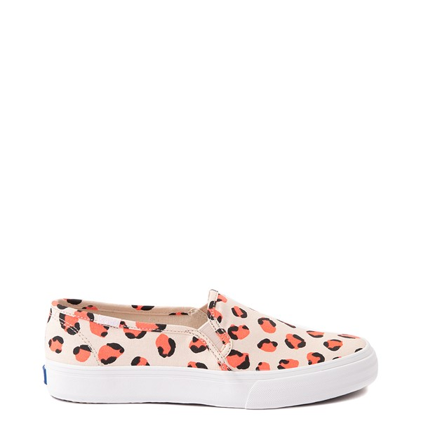 Main view of Womens Keds Double Decker Slip On Casual Shoe - Light Leopard