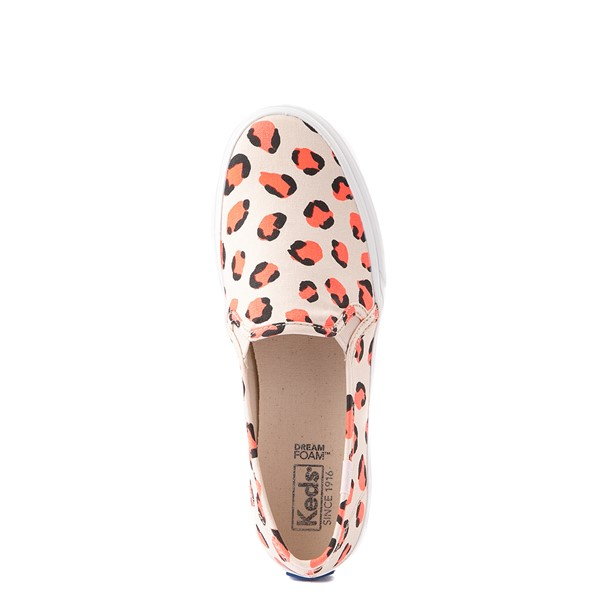 alternate view Womens Keds Double Decker Slip On Casual Shoe - Light LeopardALT4B