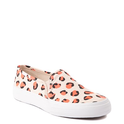 Alternate view of Womens Keds Double Decker Slip On Casual Shoe - Light Leopard