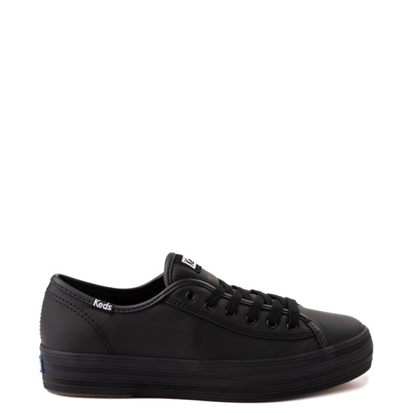 Main view of Womens Keds Triple Kick Leather Platform Casual Shoe - Black
