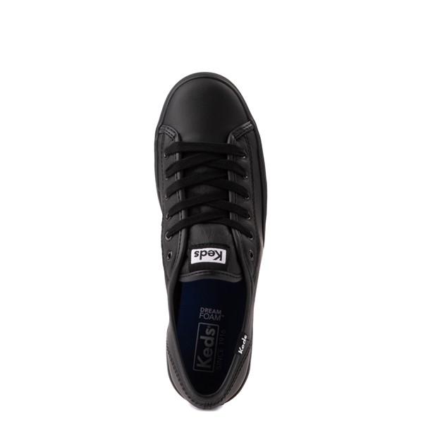 alternate view Womens Keds Triple Kick Leather Platform Casual Shoe - BlackALT2