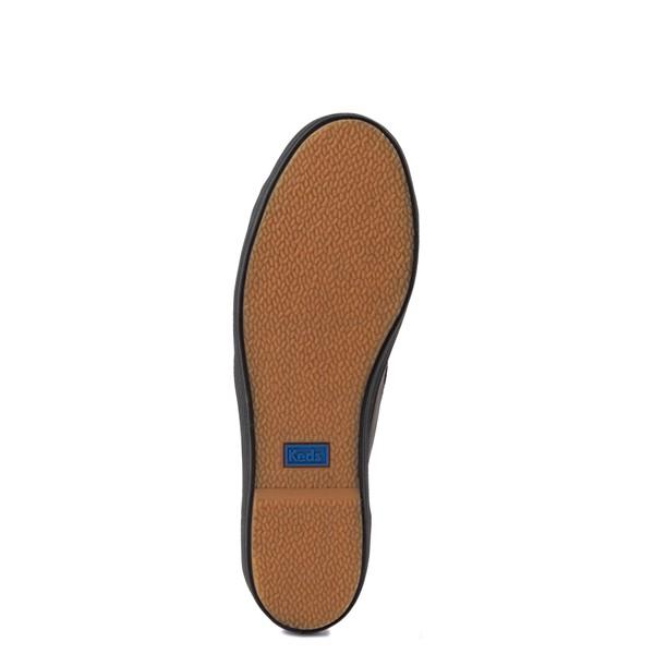 alternate view Womens Keds Triple Kick Leather Platform Casual Shoe - BlackALT3