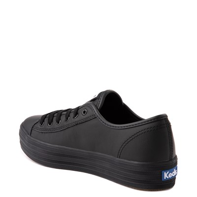 Alternate view of Womens Keds Triple Kick Leather Platform Casual Shoe - Black