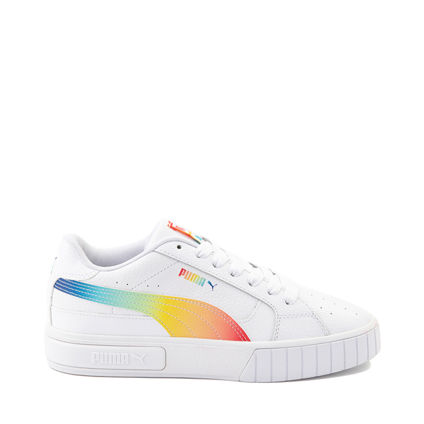 Womens Puma Cali Star Athletic Shoe - White / Rainbow