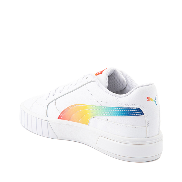 alternate view Womens Puma Cali Star Athletic Shoe - White / RainbowALT1