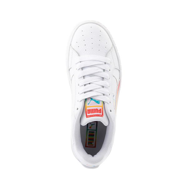 alternate view Womens Puma Cali Star Athletic Shoe - White / RainbowALT2