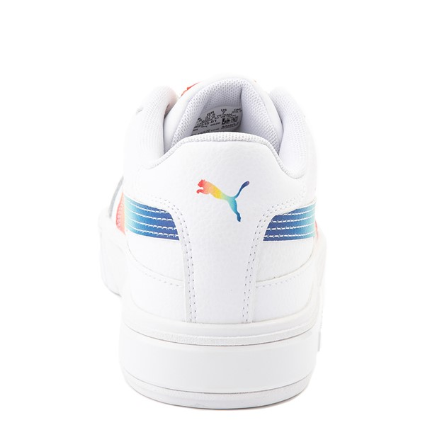 alternate view Womens Puma Cali Star Athletic Shoe - White / RainbowALT2B