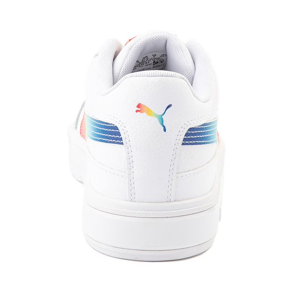 alternate view Womens Puma Cali Star Athletic Shoe - White / RainbowALT4