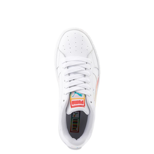 alternate view Womens Puma Cali Star Athletic Shoe - White / RainbowALT4B