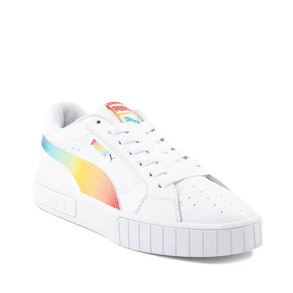 alternate view Womens Puma Cali Star Athletic Shoe - White / RainbowALT5