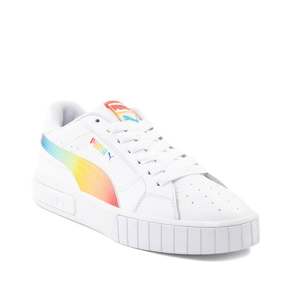 Womens Puma Cali Star Athletic Shoe - White / Rainbow