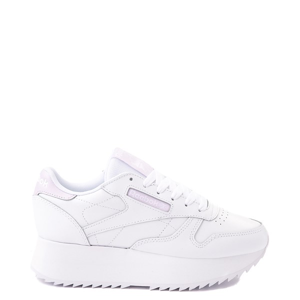 Main view of Womens Reebok Classic Wedge Athletic Shoe - White Monochrome