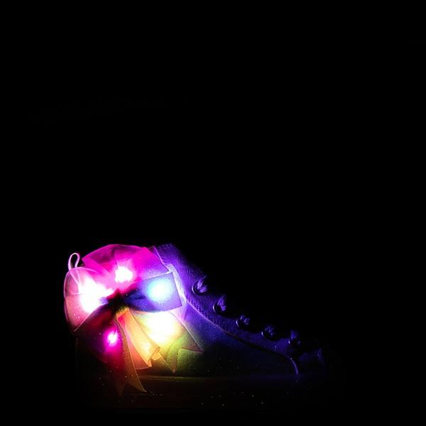 alternate view Skechers Twinkle Toes Shuffle Brights Rainbow Dust Sneaker - Little Kid - Pastel MulticolorALT1