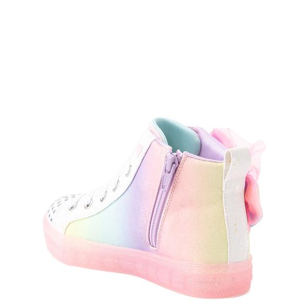 alternate view Skechers Twinkle Toes Shuffle Brights Rainbow Dust Sneaker - Little Kid - Pastel MulticolorALT1B