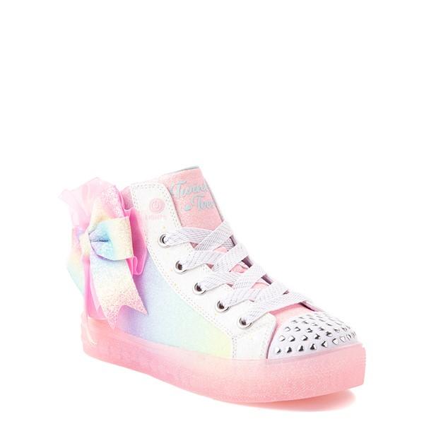 alternate view Skechers Twinkle Toes Shuffle Brights Rainbow Dust Sneaker - Little Kid - Pastel MulticolorALT5