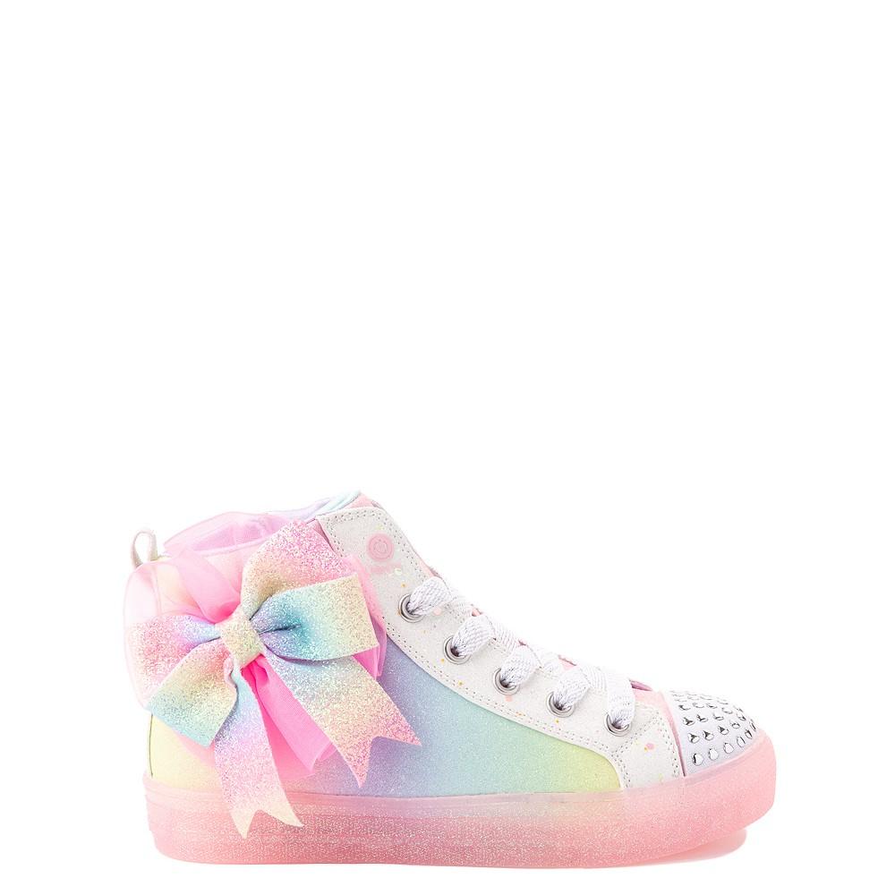 Skechers Twinkle Toes Shuffle Brights Rainbow Dust Sneaker - Little Kid - Pastel Multicolor