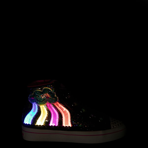 alternate view Skechers Twinkle Toes Twi-Lites 2.0 Seeing Rainbows Sneaker - Little Kid - BlackALT1