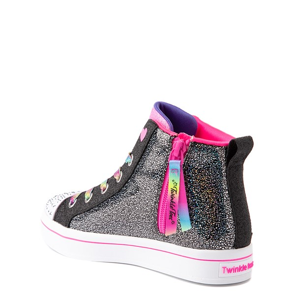 alternate view Skechers Twinkle Toes Twi-Lites 2.0 Seeing Rainbows Sneaker - Little Kid - BlackALT1B