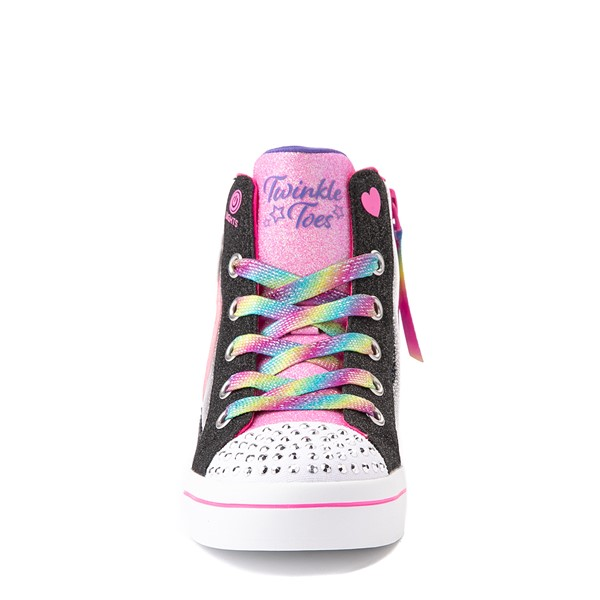 alternate view Skechers Twinkle Toes Twi-Lites 2.0 Seeing Rainbows Sneaker - Little Kid - BlackALT4