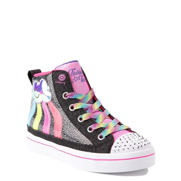 alternate view Skechers Twinkle Toes Twi-Lites 2.0 Seeing Rainbows Sneaker - Little Kid - BlackALT5