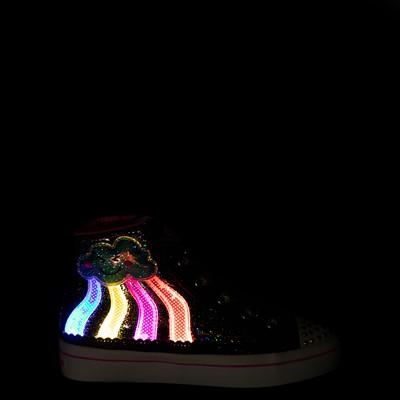 Alternate view of Skechers Twinkle Toes Twi-Lites 2.0 Seeing Rainbows Sneaker - Little Kid - Black