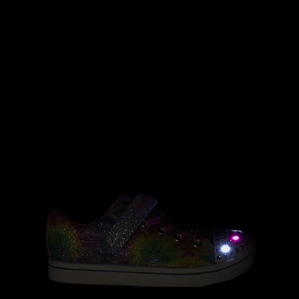 alternate view Skechers Twinkle Toes Sparkle Rayz Groovy Dreams Sneaker - Little Kid - Tie DyeALT1