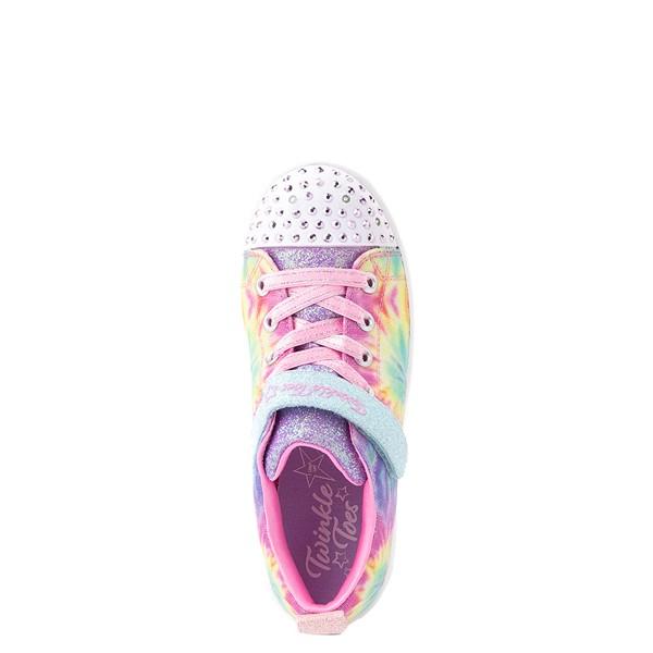 alternate view Skechers Twinkle Toes Sparkle Rayz Groovy Dreams Sneaker - Little Kid - Tie DyeALT2
