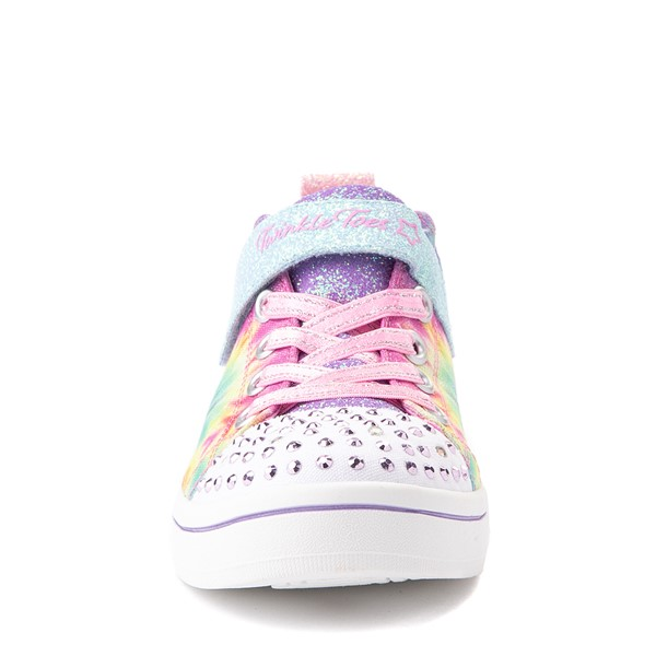 alternate view Skechers Twinkle Toes Sparkle Rayz Groovy Dreams Sneaker - Little Kid - Tie DyeALT4