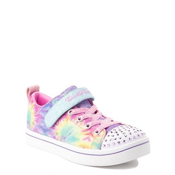 alternate view Skechers Twinkle Toes Sparkle Rayz Groovy Dreams Sneaker - Little Kid - Tie DyeALT5