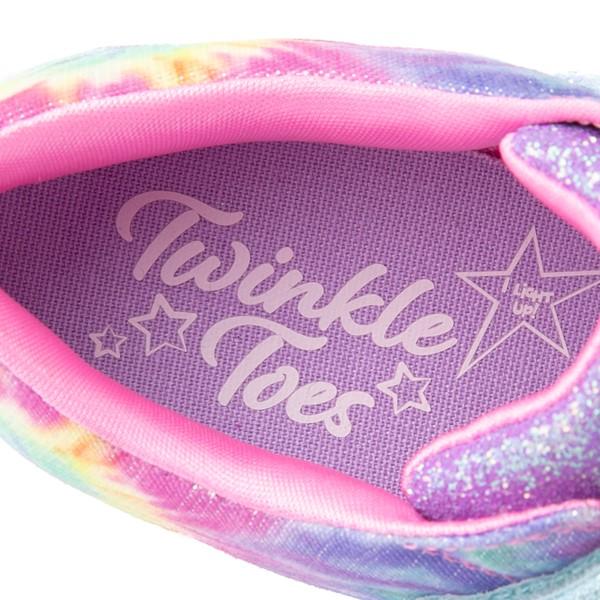 alternate view Skechers Twinkle Toes Sparkle Rayz Groovy Dreams Sneaker - Little Kid - Tie DyeALT7