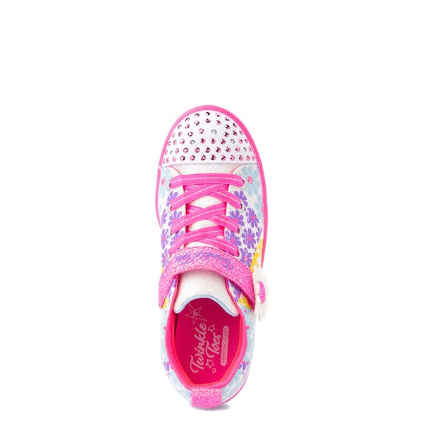 alternate view Skechers Twinkle Toes Sparkle Lite Super Bloom Sneaker - Little Kid - MulticolorALT2