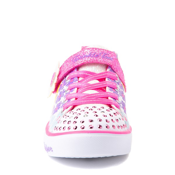 alternate view Skechers Twinkle Toes Sparkle Lite Super Bloom Sneaker - Little Kid - MulticolorALT4