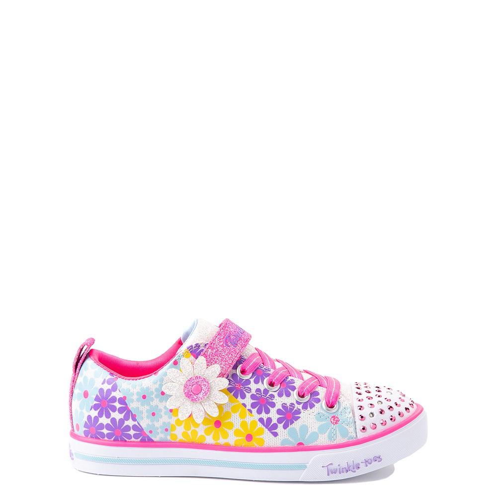 Skechers Twinkle Toes Sparkle Lite Super Bloom Sneaker - Little Kid - Multicolor