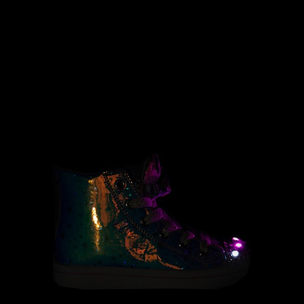 alternate view Skechers Twinkle Toes Twi-Lites Scrunchie Magic Sneaker - Little Kid - LavenderALT1