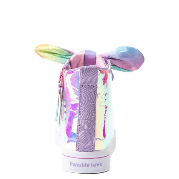 alternate view Skechers Twinkle Toes Twi-Lites Scrunchie Magic Sneaker - Little Kid - LavenderALT4