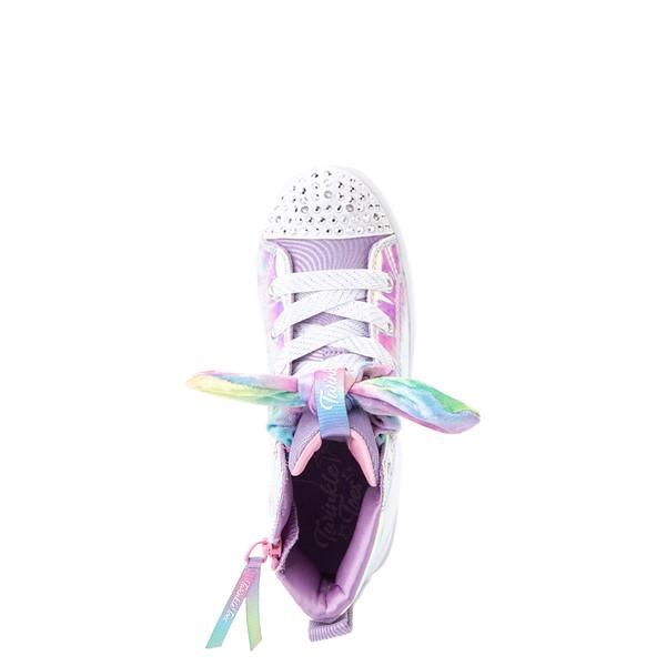 alternate view Skechers Twinkle Toes Twi-Lites Scrunchie Magic Sneaker - Little Kid - LavenderALT4B