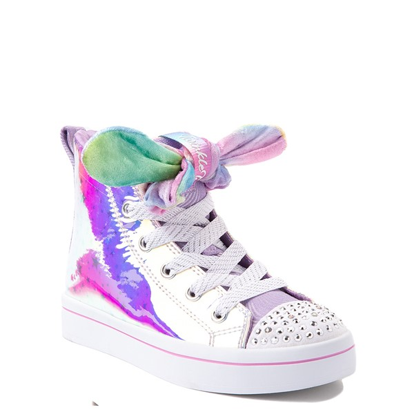 alternate view Skechers Twinkle Toes Twi-Lites Scrunchie Magic Sneaker - Little Kid - LavenderALT5