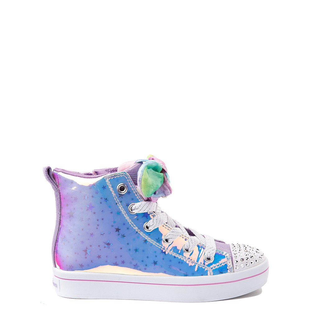 Skechers Twinkle Toes Twi-Lites Scrunchie Magic Sneaker - Little Kid - Lavender