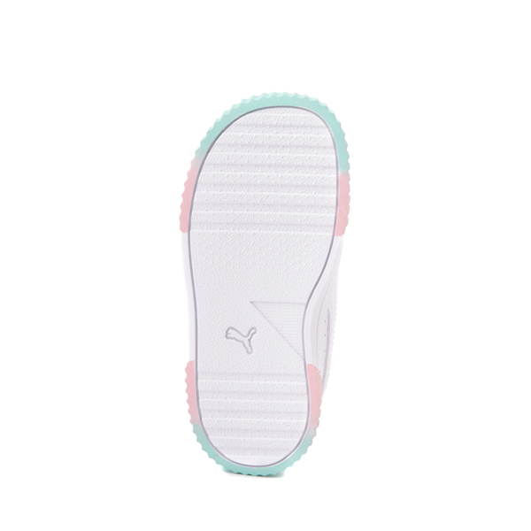 alternate view Puma Carina Athletic Shoe - Baby / Toddler - White / Pink / TurquoiseALT3
