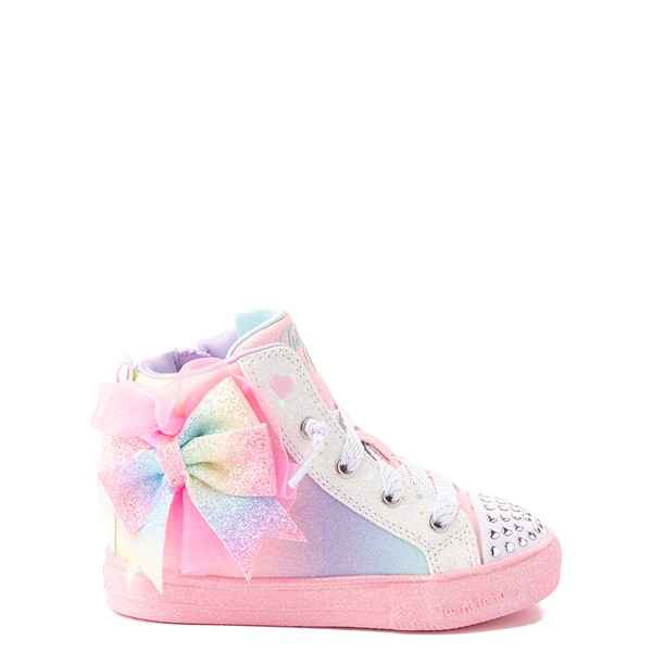 Skechers Twinkle Toes Shuffle Brights Rainbow Dust Sneaker - Toddler - Pastel Multicolor