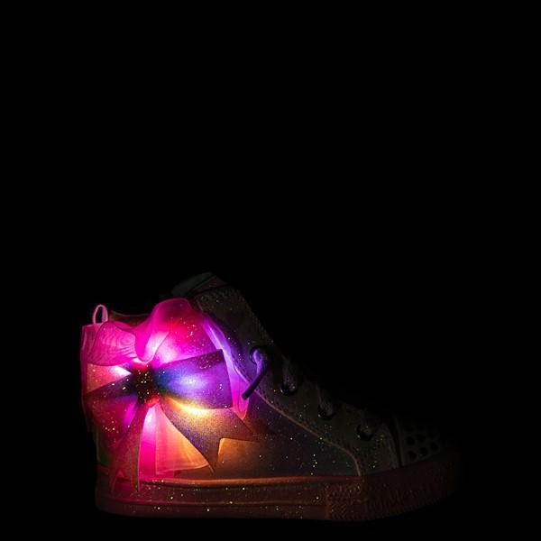 alternate view Skechers Twinkle Toes Shuffle Brights Rainbow Dust Sneaker - Toddler - Pastel MulticolorALT1